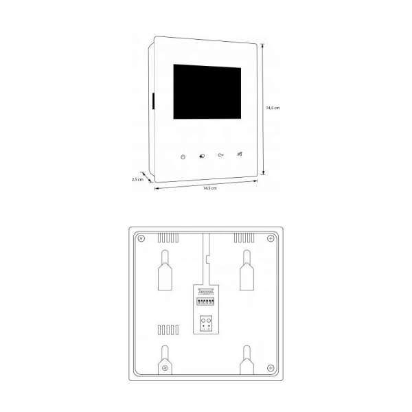 BALTER EVIDA Silber RFID Edelstahl BUS Video Türstation Set 4.3 Wifi APP 2 Familienhaus