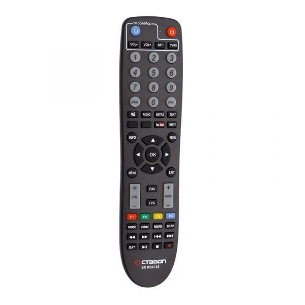 OCTAGON SX87 Full HD IP H.265 Linux HDMI USB LAN DVB-S2 Sat IP Receiver Schwarz
