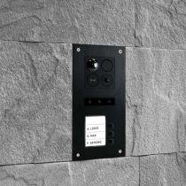 Vorschau: BALTER ERA Schwarz RFID 2-Draht BUS IP 7 WiFi Video Türstation iOS Android App für 3 Familienhaus