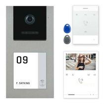 Preview: Balter EVO-AP Silber Video Türsprechanlage Quick-Talk RFID Intercom 2-Draht BUS Set für 1 Teilnehmer