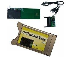 Deltacam Twin Deltacrypt CI Cam Modul + USB Programmer Bundle