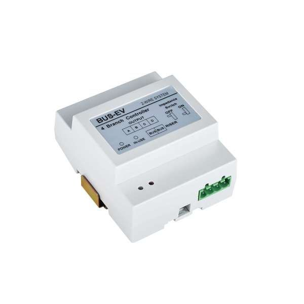 BALTER Evida 4-fach Verteiler 2-Draht BUS-Verteiler für Monitore und Türstationen