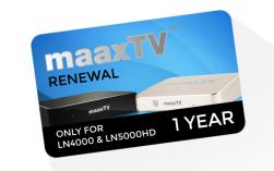 MaaxTV Verlängerung für MaaxTV LN4000 / LN5000HD / LN6000N - Arabic - Laufzeit 1 Jahr
