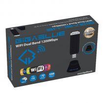 Vorschau: GigaBlue USB 3.0 WiFi 1200Mbit Dual Band 2,4 - 5GHz Wlan Stick 2 dBi