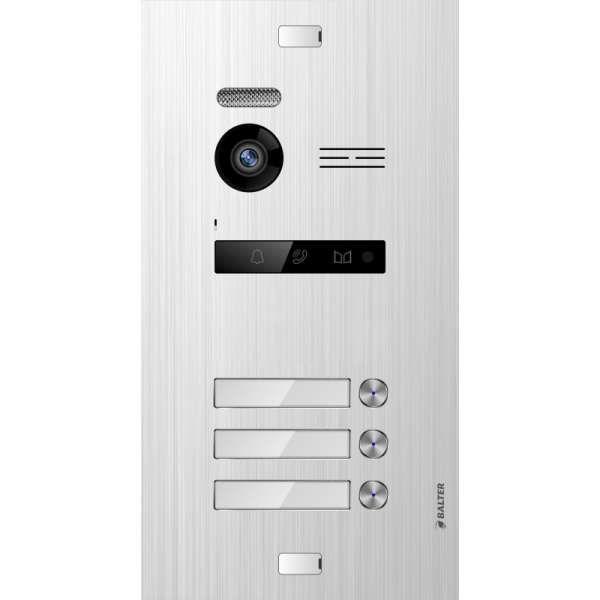 Balter EVO SILVER Video-Türsprechanlage 7 Touchscreen 2-Draht BUS Komplettsystem für 3 Teilnehmer