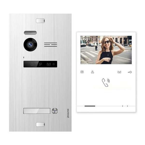 Balter EVO Silber Video Türsprechanlage Quick Monitor 2-Draht BUS Komplettsystem für 1 Teilnehmer