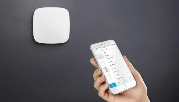 AJAX Alarmzentrale Hub Jeweller GSM LAN GPRS APP Steuerung Weiss