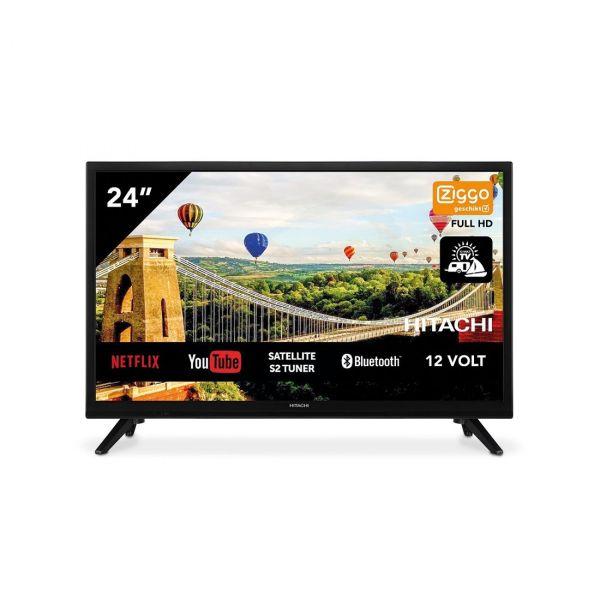 Hitachi 24HE2202 24 Zoll 61cm Smart AndroidTV Wifi Bluetooth HD LED DVB-S2/C/T2 - 12 und 220 Volt