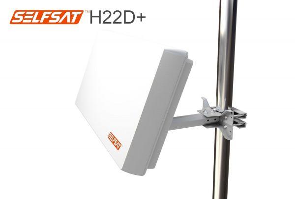 Selfsat H22D+ Flachantenne mit austauschbaren Single LNB