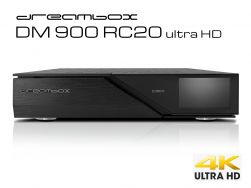 Dreambox DM900 RC20 UHD 4K 1x Dual DVB-S2X MS Tuner E2 Linux PVR ready Receiver