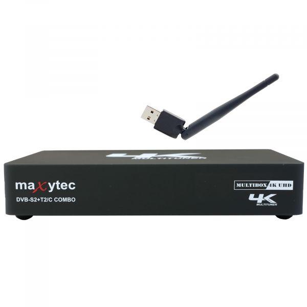 Maxytec Multibox 4K UHD 2160p E2 Linux + Android DVB-S2 Sat & DVB-T2/C Combo Wifi Receiver