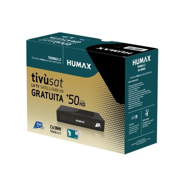 Humax Tivumax LT HD-3800S2 DVB-S2 Full HD Receiver mit Tivusat HD Karte