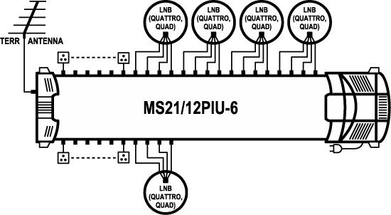 EMP ProfiLine MS 21/12 PIU-6 Multischalter