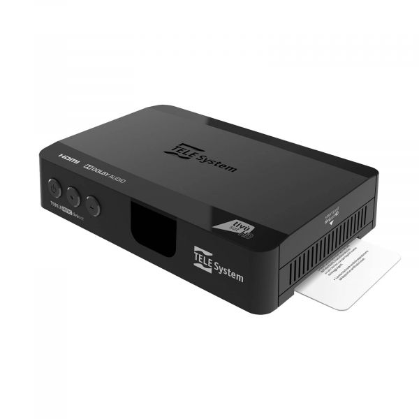 Telesystem TS9018 Full HD HEVC H.265 Smartcard HDMI DVB-S2 Sat Receiver mit Tivusat HD Karte