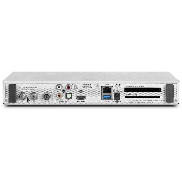 TechniSat DIGIT ISIO STC, Sat-/Kabel-/Terr.-Receiver, Twin Triple Tuner, UHD, WLAN, Silber
