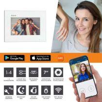 Vorschau: Balter EVO-AP Silber Video Türsprechanlage 7 WiFi Touchscreen RFID 2-Draht BUS Set für 3 Teilnehmer